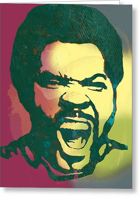 December Mixed Media Greeting Cards - Ice Cube - stylised drawing art poster Greeting Card by Kim Wang