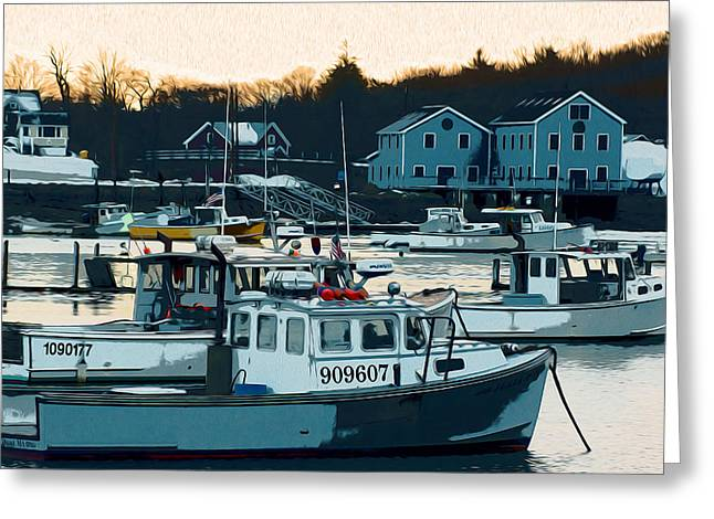Cohasset Greeting Cards - Ice Fishing Greeting Card by Carol Sutherland