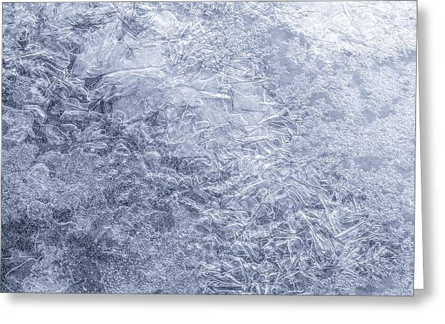 Shattered Greeting Cards - Ice on Minnehaha Creek  Greeting Card by Jim Hughes