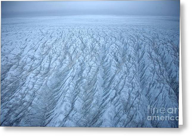 Arctic Ice Greeting Cards - Ice Sheet Surface Greeting Card by Robbie Shone