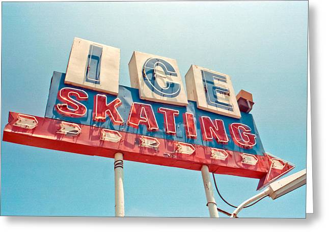 Modernism Greeting Cards - Ice Skating Greeting Card by Matthew Bamberg