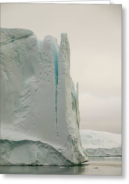 Icebergs From The Jakobshavn Glacier Greeting Card by Ashley Cooper