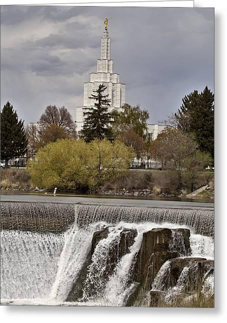 Turbulence Greeting Cards - Idaho Falls Greeting Card by Mark Duffy