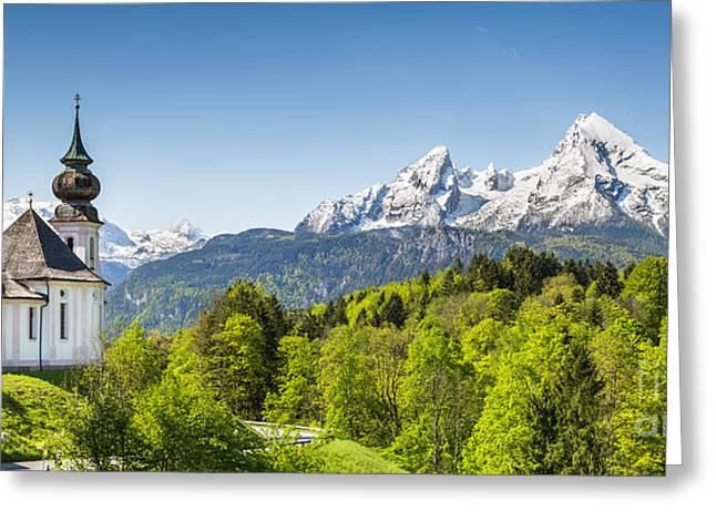 Oberbayern Greeting Cards - Idyllic Bavaria Greeting Card by JR Photography