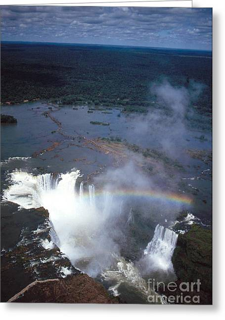 Paraguay Greeting Cards - Iguazu Falls Greeting Card by Mark Newman