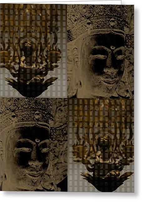 Horyuji Greeting Cards - Image of Buddha1 Greeting Card by Yoko Nakai