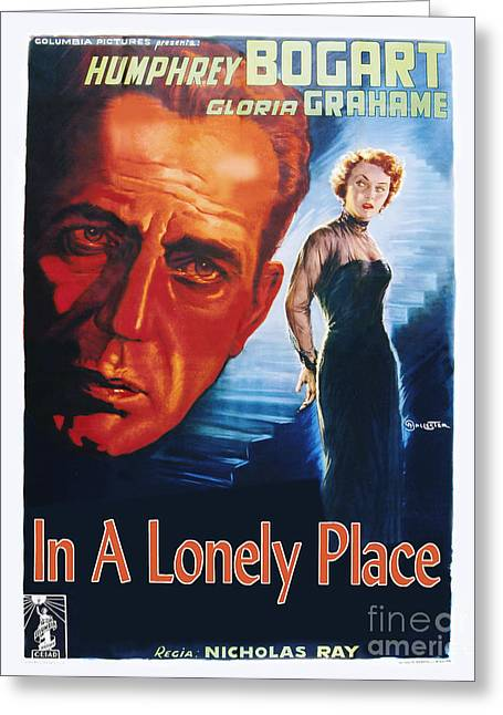 Movie Poster Greeting Cards - In a Lonely Place Movie Poster - Bogart Greeting Card by MMG Archive Prints
