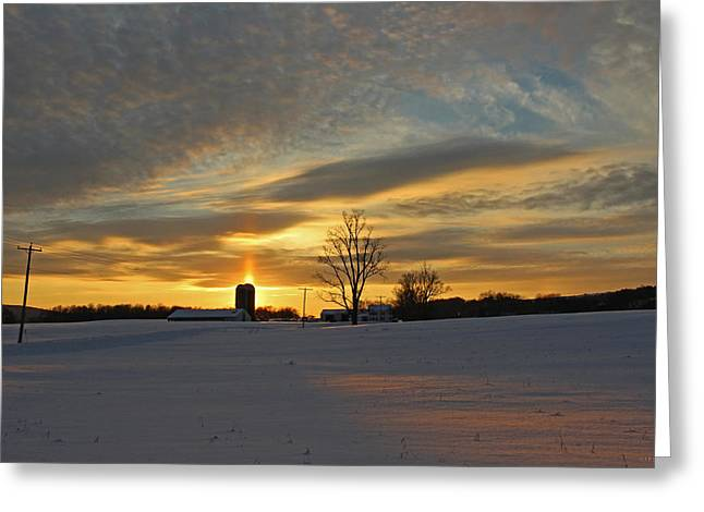 Cazenovia Greeting Cards - In February Greeting Card by John   Kennedy