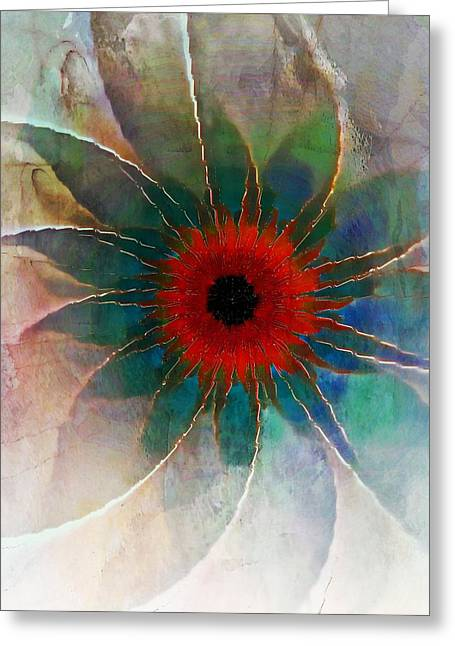 Floral Digital Art Digital Art Greeting Cards - In Glass Greeting Card by Amanda Moore