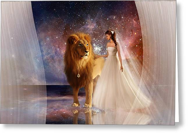 Jennifer Page Greeting Cards - In His Presence Greeting Card by Jennifer Page