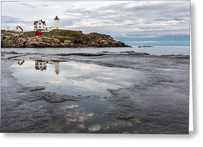 Coastal Maine Greeting Cards - In the Beginning Greeting Card by Jon Glaser