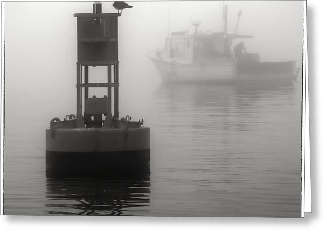 Lobster Post Greeting Cards - In the Midst of a Fog Greeting Card by Richard Bean