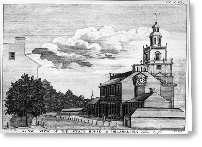 Carousel House Greeting Cards - Independence Hall, 1778 Greeting Card by Granger