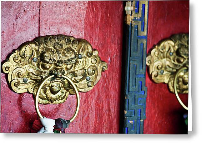 India, Ladakh, Likir, Close-up Greeting Card by Anthony Asael