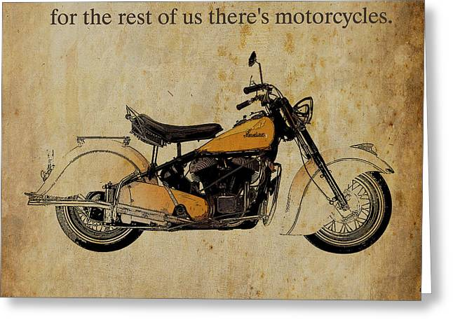 Motorcycle Greeting Cards - Indian Chief 1950 Greeting Card by Pablo Franchi