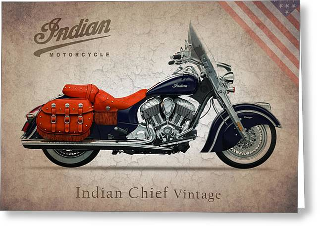 Indian Chief Greeting Cards - Indian Chief Vintage Greeting Card by Mark Rogan