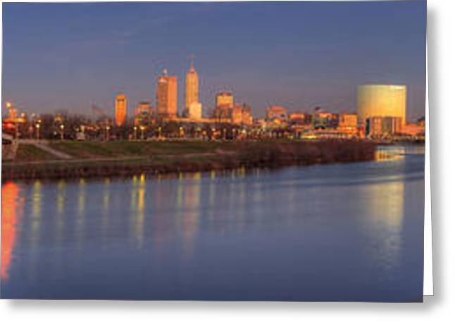 Indianapolis From White River Greeting Card by Twenty Two North Photography