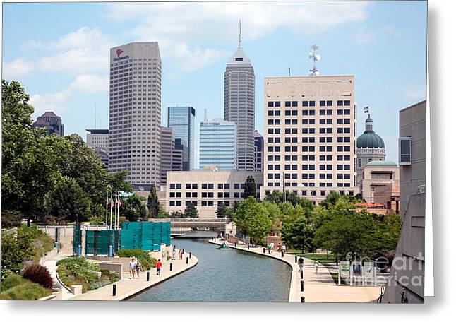 Indiana Scenes Greeting Cards - Indianapolis Indiana Greeting Card by Bill Cobb