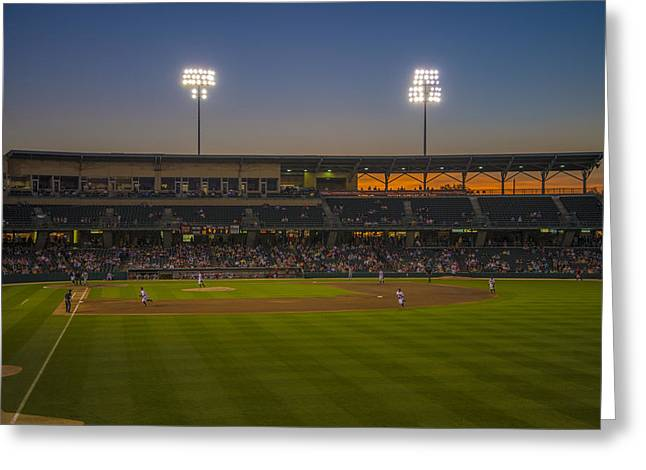 Indy Indians Greeting Cards - Indianapolis Indians Victory Field Sunset 4694 Greeting Card by David Haskett
