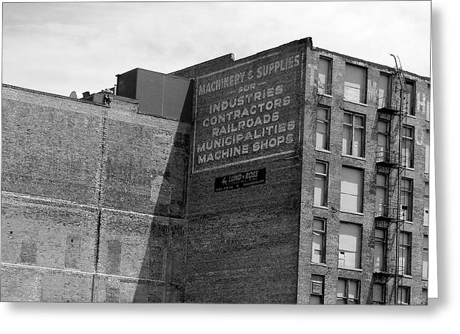 Ghost Signs Greeting Cards - Industrial Ad Greeting Card by Brandon Addis