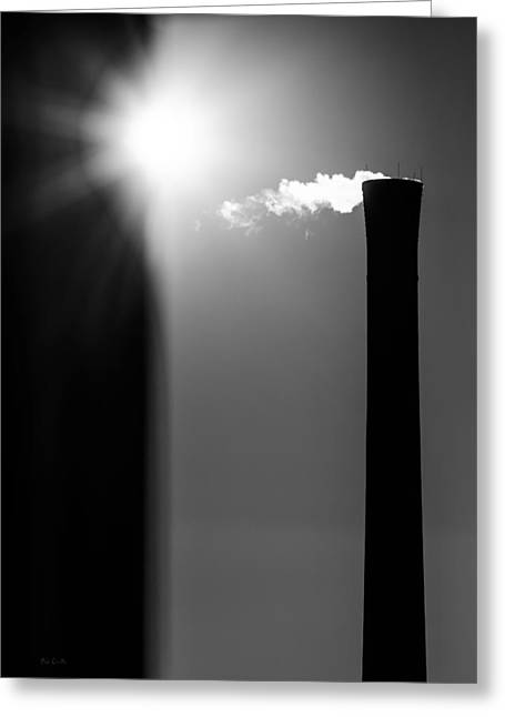 Grunge Greeting Cards - Industrial Afternoon Greeting Card by Bob Orsillo