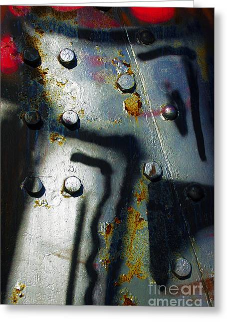Rivets Greeting Cards - Industrial Detail Greeting Card by Carlos Caetano