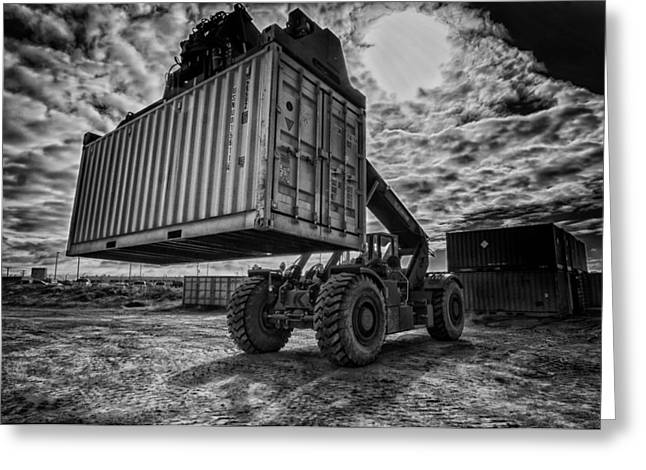 Heavy Industry Greeting Cards - Industrial Shipping Container Greeting Card by Mountain Dreams