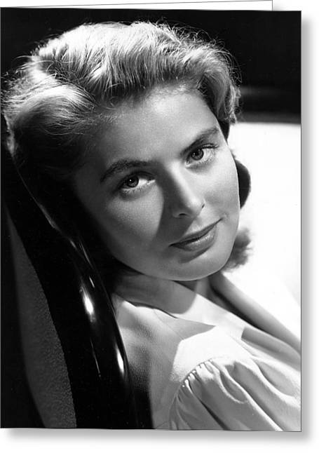 Film Noir Greeting Cards - Ingrid Bergman Greeting Card by Nomad Art And  Design