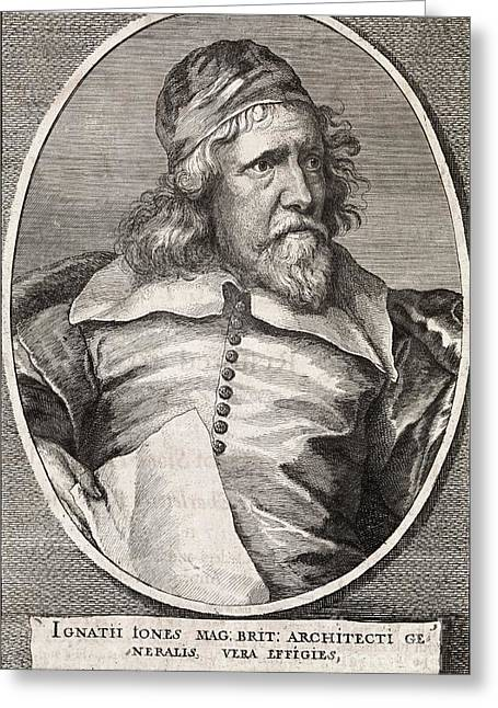 1500s Greeting Cards - Inigo Jones, British Architect Greeting Card by Middle Temple Library