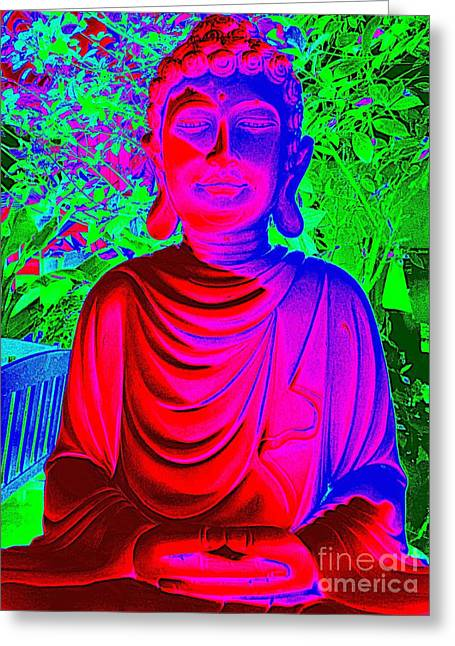 Purple Robe Photographs Greeting Cards - Inner Peace Greeting Card by Ed Weidman