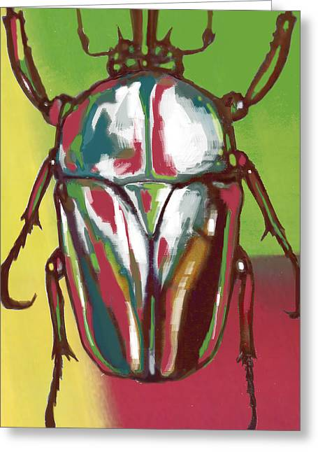 Rainforest Greeting Cards - Insect Stylised Pop Art Drawing Potrait Poser Greeting Card by Kim Wang
