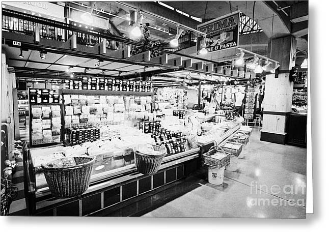 North Vancouver Photographs Greeting Cards - inside lonsdale quay market shopping mall north Vancouver BC Canada Greeting Card by Joe Fox