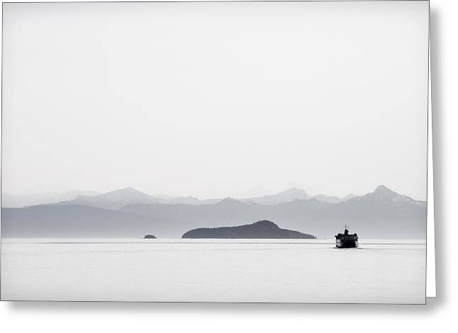 Clean Ocean Greeting Cards - Inside Passage Alaska Greeting Card by Carol Leigh