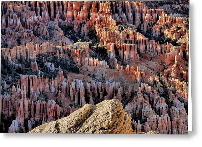 Inspiration Point Greeting Cards - Inspiration Point Hoodoos Greeting Card by Stephen  Vecchiotti