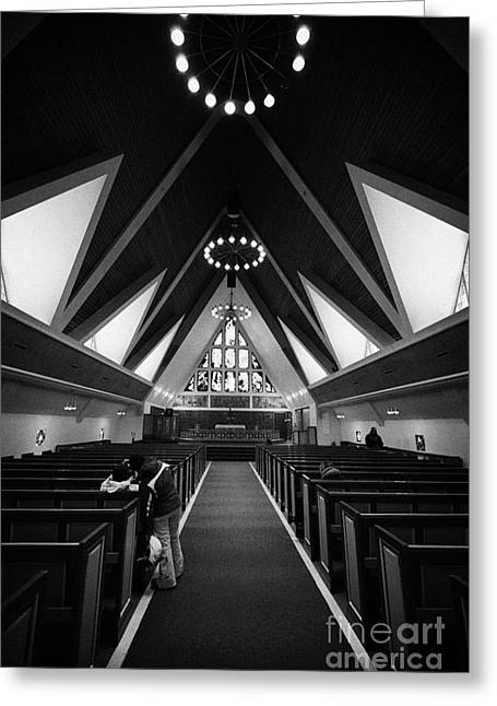 Finnmark Greeting Cards - Interior And Altar Of Hammerfest Church Finnmark Norway Europe Greeting Card by Joe Fox