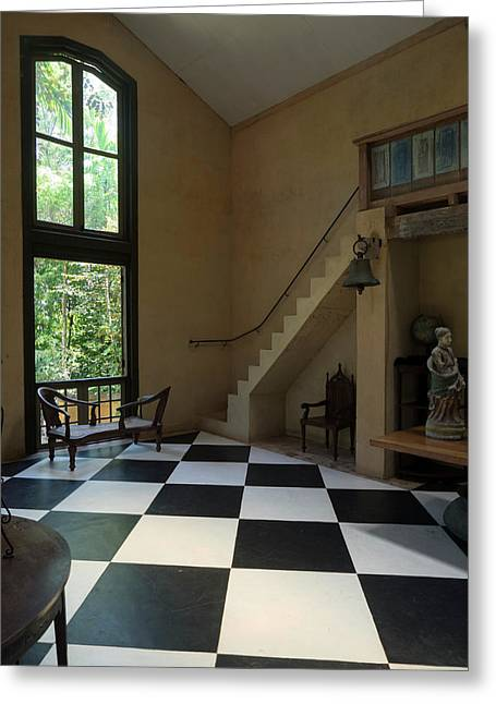 Interior Of Main House At Lunuganga Greeting Card by Panoramic Images