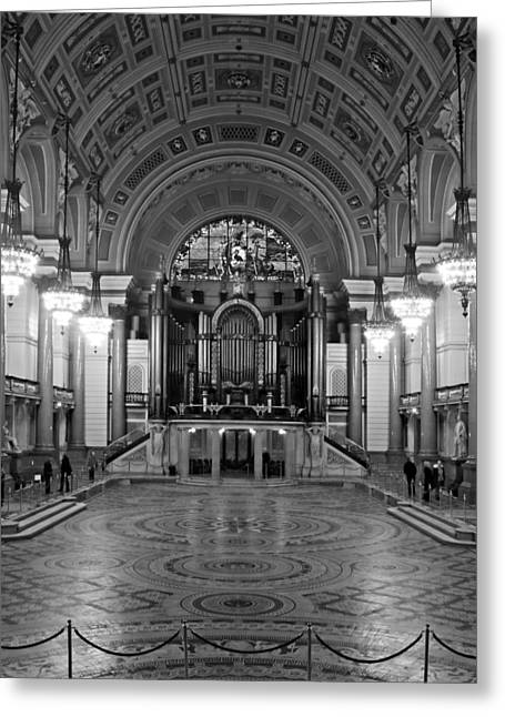 Grade 1 Greeting Cards - Interior of St Georges Hall Liverpool UK Grade 1 listed build Greeting Card by Ken Biggs