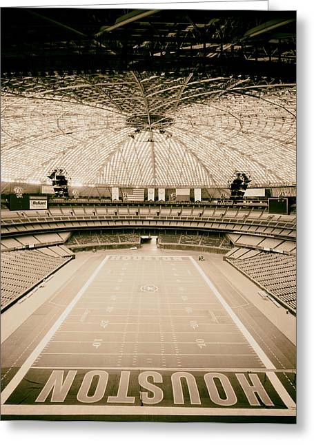 Interior Of The Old Astrodome Greeting Card by Mountain Dreams