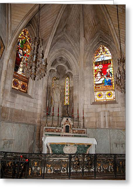 Photography Of Windows Greeting Cards - Interiors Of The Church Of St Greeting Card by Panoramic Images