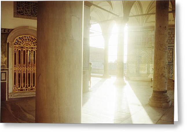 Backlit Greeting Cards - Interiors Of Topkapi Palace Greeting Card by Panoramic Images