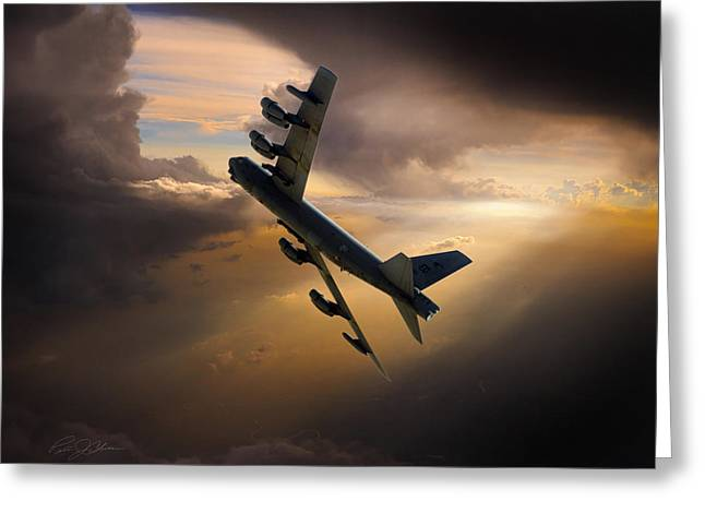 B-52 Greeting Cards - Into The Light Greeting Card by Peter Chilelli