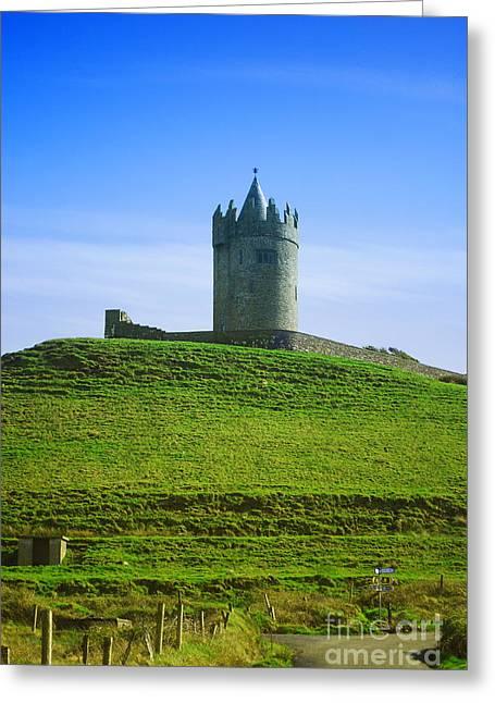 Rep Greeting Cards - Irish Castle on Hill Greeting Card by Birgit Tyrrell