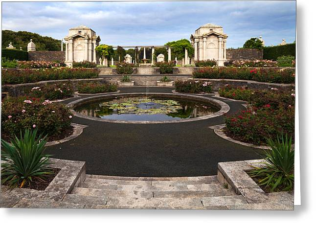 Arbour Greeting Cards - Irish National War Memorial Gardens Greeting Card by Panoramic Images
