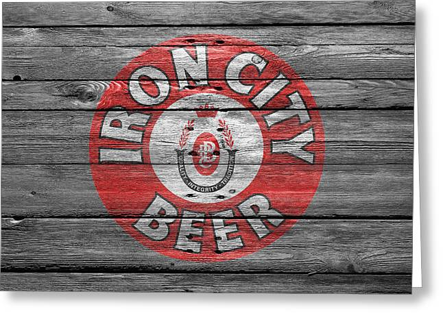 Saloons Greeting Cards - Iron City Beer Greeting Card by Joe Hamilton