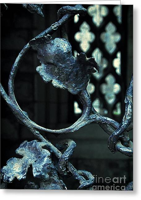 Christian Sanctuary Greeting Cards - Iron Gate Detail Greeting Card by Jill Battaglia