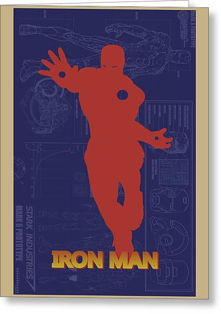 Thor Greeting Cards - Iron Man Greeting Card by Joe Hamilton