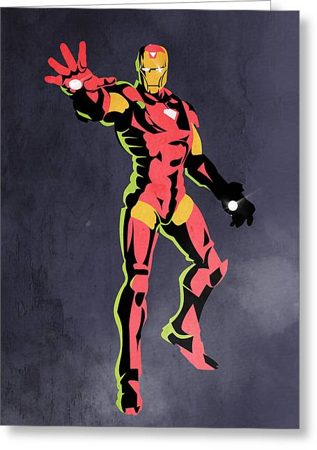 Funny Pop Culture Greeting Cards - Iron Man  Greeting Card by Mark Ashkenazi