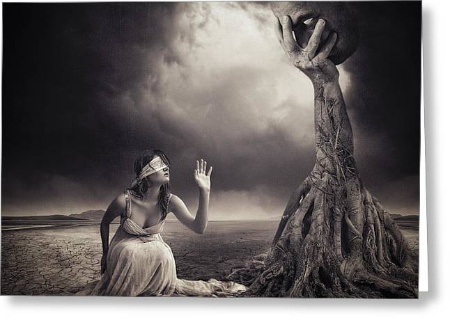Abstract Expression Greeting Cards - Is There Anybody Out There? Greeting Card by Erik Brede