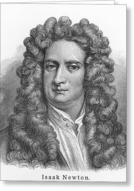 British Celebrities Drawings Greeting Cards - Isaac Newton Greeting Card by Oprea Nicolae
