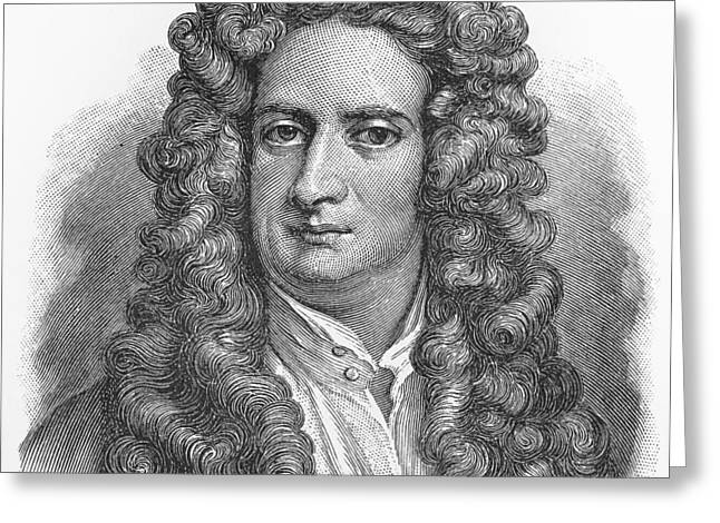 Isaac Newton Greeting Card by Oprea Nicolae